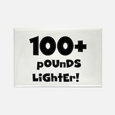 100 Plus Pounds Rectangle Magnet