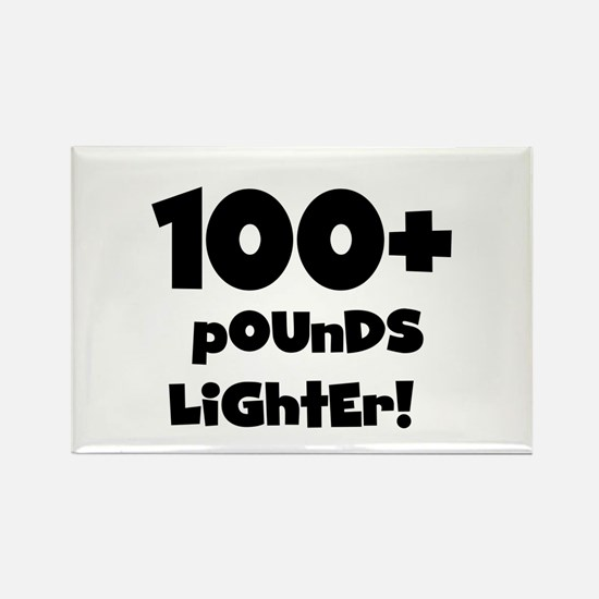 100 Plus Pounds Rectangle Magnet
