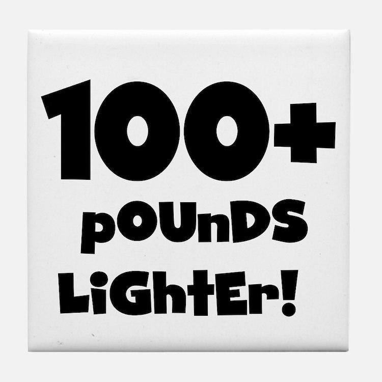 100 Plus Pounds Tile Coaster