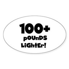 100 Plus Pounds Oval Decal
