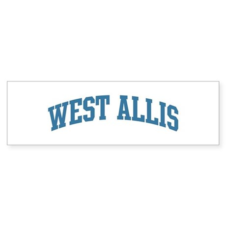 West Allis (blue) Bumper Sticker