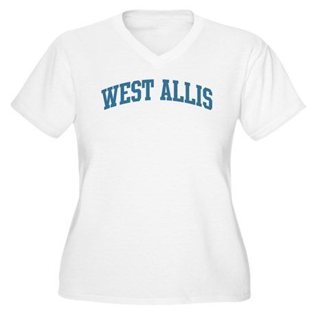 West Allis (blue) Women's Plus Size V-Neck T-Shirt
