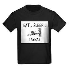 Eat ... Sleep ... TAYRAS Kids Dark T-Shirt