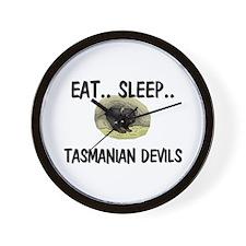 Eat ... Sleep ... TASMANIAN DEVILS Wall Clock