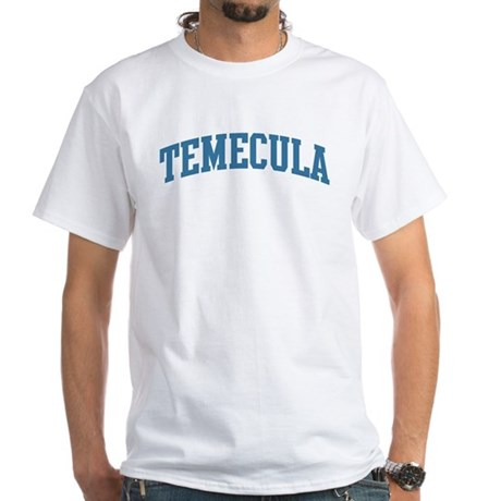 Temecula (blue) White T-Shirt