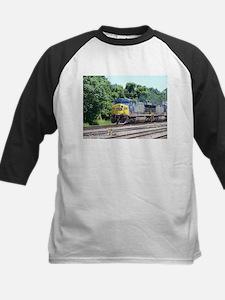 CSX Q190 Doublestack Train Kids Baseball Jersey