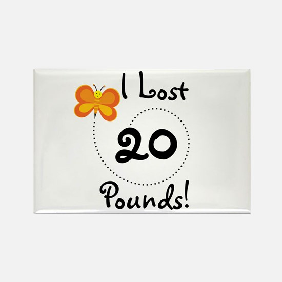 I Lost 20 Pounds Rectangle Magnet