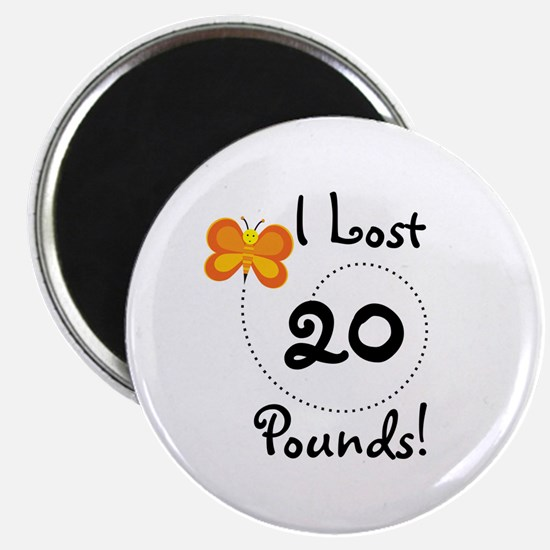 I Lost 20 Pounds Magnet