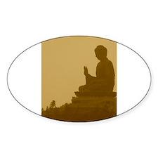brown buddha Oval Sticker (10 pk)