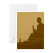 brown buddha Greeting Card
