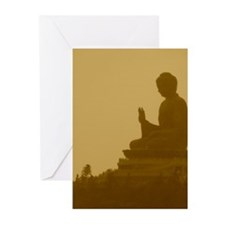 brown buddha Greeting Cards (Pk of 10)