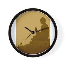 brown buddha Wall Clock