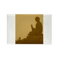 brown buddha Rectangle Magnet