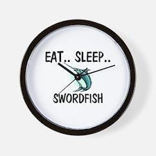 Eat ... Sleep ... SWORDFISH Wall Clock