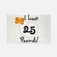 I Lost 25 Pounds Rectangle Magnet