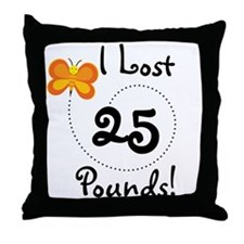 I Lost 25 Pounds Throw Pillow