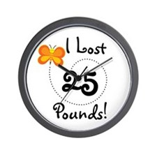 I Lost 25 Pounds Wall Clock