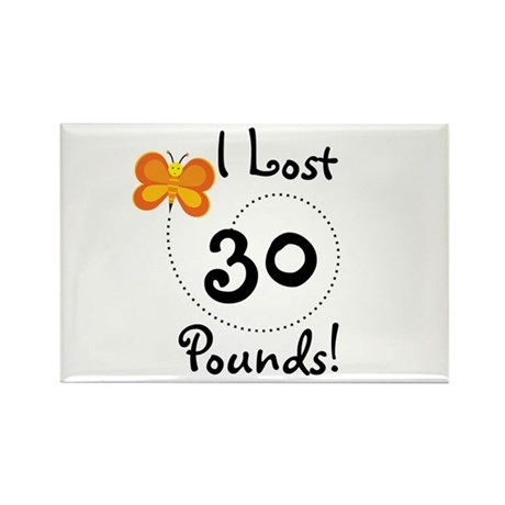 I Lost 30 Pounds Rectangle Magnet