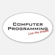 Programming / Dream! Oval Decal