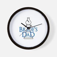 Bride's Dad - White Bishop Wall Clock