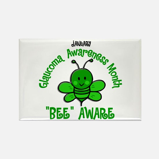 Glaucoma Awareness Month BEE 2 Rectangle Magnet