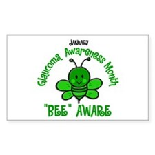 Glaucoma Awareness Month BEE 2 Rectangle Decal