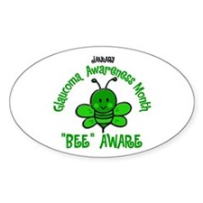 Glaucoma Awareness Month BEE 2 Oval Decal