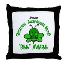 Glaucoma Awareness Month BEE 2 Throw Pillow
