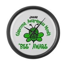 Glaucoma Awareness Month BEE 2 Large Wall Clock