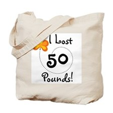 I Lost 50 Pounds Tote Bag