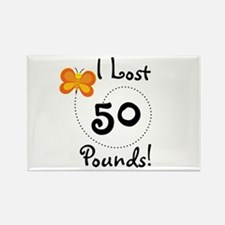 I Lost 50 Pounds Rectangle Magnet