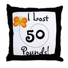 I Lost 50 Pounds Throw Pillow