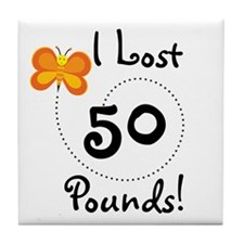 I Lost 50 Pounds Tile Coaster