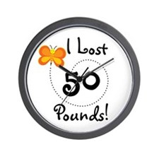 I Lost 50 Pounds Wall Clock