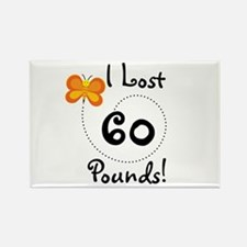 I Lost 60 Pounds Rectangle Magnet