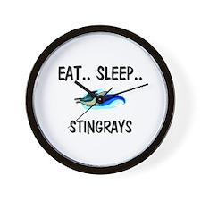 Eat ... Sleep ... STINGRAYS Wall Clock