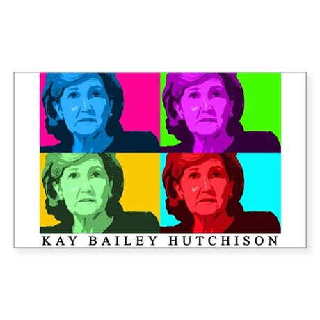 Kay Bailey Hutchison Rectangle Sticker 10 pk)