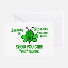 Glaucoma Awareness Month BEE 1 Greeting Card