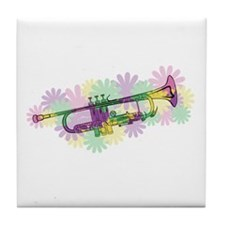 Flower Power Trumpet Tile Coaster