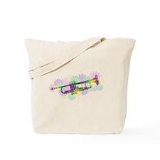 Flower Power Trumpet Tote Bag