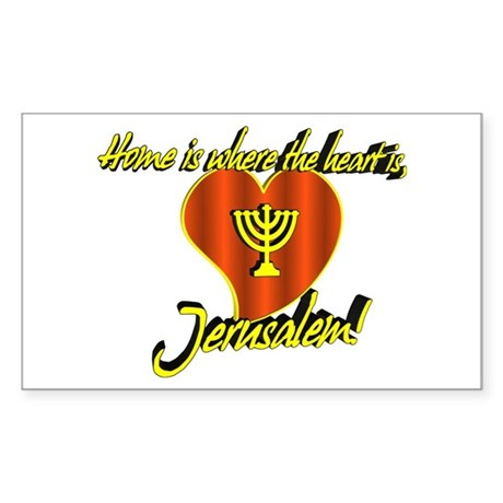 Home is where the heart is, J Sticker (Rectangular