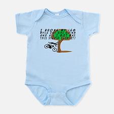 Dirt Bike Into Tree Infant Bodysuit