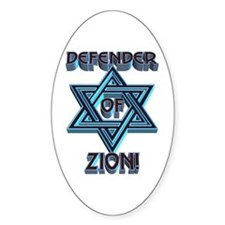 Defender of Zion! Oval Decal