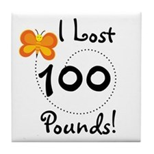 I Lost 100 Pounds Tile Coaster