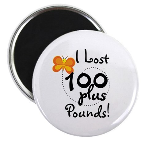 """I Lost 100 Plus Pounds 2.25"""" Magnet (100 pack)"""