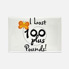 I Lost 100 Plus Pounds Rectangle Magnet