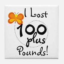 I Lost 100 Plus Pounds Tile Coaster