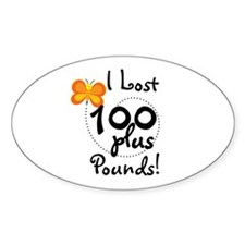 I Lost 100 Plus Pounds Oval Decal