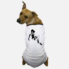 Gothic Pin-up Girl Silhouette Dog T-Shirt