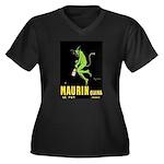 Maurin Quina Women's Plus Size V-Neck Dark T-Shirt